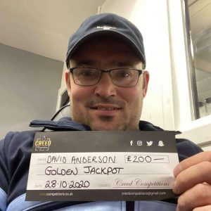 David Anderson £200 Golden Jackpot Winner