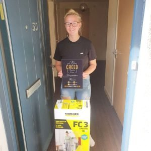 Katherine Adams Karcher Floor Cleaner Winner